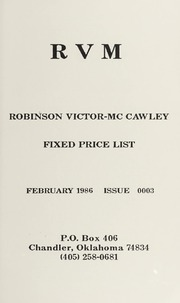 Robinson Victor-McCawley Fixed Price List #3