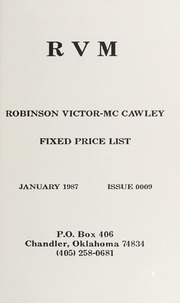 Robinson Victor-McCawley Fixed Price List #9