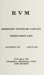Robinson Victor-McCawley Fixed Price List #13