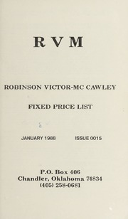 Robinson Victor-McCawley Fixed Price List #15