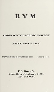 Robinson Victor-McCawley Fixed Price List #8