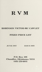 Robinson Victor-McCawley Fixed Price List #11