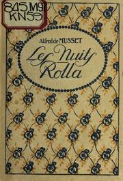 Rolla ; Les nuits ; La coupe et les lèvres ; Portia