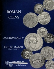Roman coins : auction sale V : Ides of March. [03/15/1975]