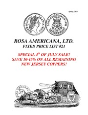 Rosa America, Ltd. Fixed Price List #21 (Remainder Sale)