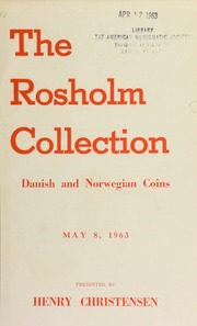 The Rosholm collection : Danish and Norwegian coins ... [05/08/1963]