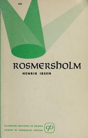 rosmersholm ibsen henrik