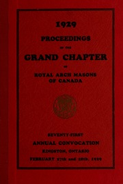 Grand Chapter Royal Arch Masons of Canada in the Province of