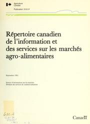 Répertoire canadien de l-information et des services sur les marchés agro-alimentaires
