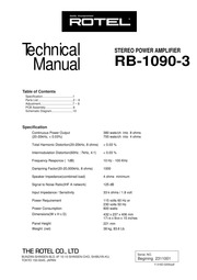 rtv rotel rb 1090 service manual free download borrow and rh archive org