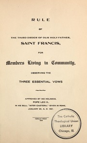 rule of saint francis