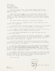 Correspondence with Margo Russell regarding aspects of the American Revolution Bicentennial Commission