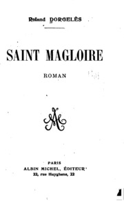 ... Saint Magloire; roman