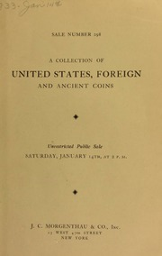 Sale number 298 : a collection of United States, foreign and ancient coins ... [01/14/1933]