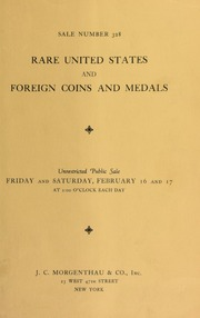 Sale number 328 : United States and foreign coins and medals ... [02/16-17/1934]