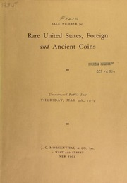 Sale number 348 : rare United States, foreign and ancient coins from Russell Burrage, Waldo Newcomer ... [05/09/1935]