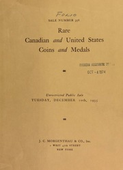 Sale number 356 : rare Canadian and United States coins and medals : the property of the late Ludger Gravel ... Byron Carney ... [12/10/1935]