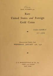 Sale number 359 : rare United States and foreign gold coins ... [01/15/1936]