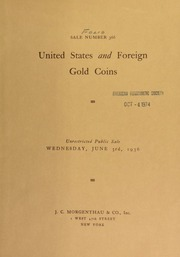 Sale number 366 : United States and foreign gold coins ... [06/03/1936]