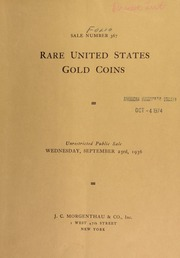 Sale number 367 : Rare United States gold coins ... [09/23/1936]
