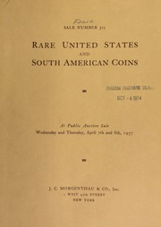 Sale number 375 : rare south American gold coins : the property of Richard Santos ... [04/07/1937]