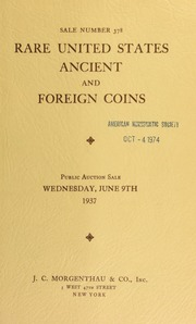 Sale number 378 : rare United States, ancient and foreign coins : properties of Geo. A. Gillette, L. J. Troy and others. [06/09/1937]