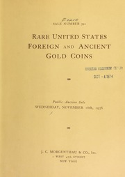 Sale number 392 : rare United States foreign and ancient gold coins : the properties of Mr. Salvador Trigueros ... estate of L. O. Bucklin ... [11/16/1938]
