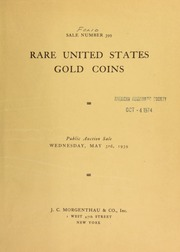 Sale number 399 : rare United States gold coins ... [05/03/1939]