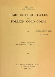 Sale number 401 : rare United States and foreign gold coins ... [06/07/1939]