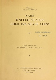Sale number 416 : rare United States gold and silver coins ... [06/12/1940]