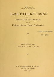 Sale number 430 : rare coins from the Newcomer collection ... [05/15/1941]