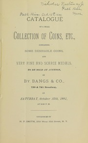 Sale of Coins [10/15/1881]
