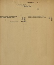 Armin W. Brand Sales Reports 1935 - 1943 inclusive, Also old invoices and sheets