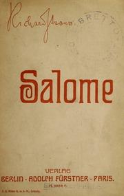 Salome : musik-drama in einem aufzuge