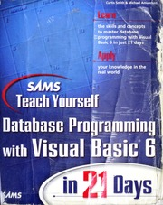 SAMS teach yourself database programming with Visual Basic 6