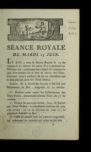 Séance royale du mardi 23 juin 1789