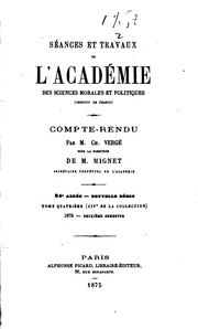 Vol 104: Séances et travaux de l-Académie des sciences morales et politiques, compte rendu