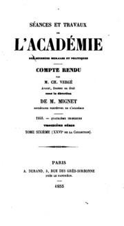 Séances et travaux de l-Académie des sciences morales et politiques..