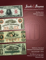 The June 2014 Baltimore Auction, U.S. Currency
