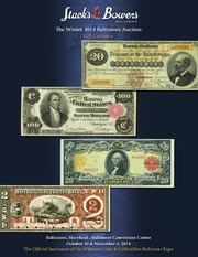 The Winter 2014 Baltimore Auction, U.S. Currency