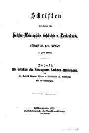 Schriften des Vereins für Sachsen Meiningische Geschichte und Landeskunde