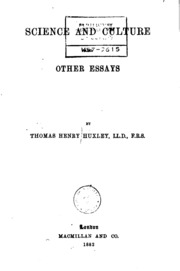 science and culture and other essays thomas henry huxley science and culture and other essays and other essays