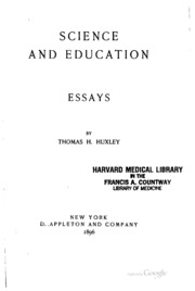 science and culture and other essays huxley thomas henry  science and education essays