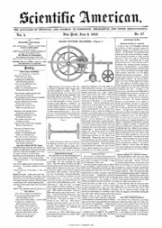 Scientific American Volume 04b Number 37 (June 1849 ...