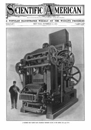 Scientific American Volume 101 Number 21 (November 1909 ...