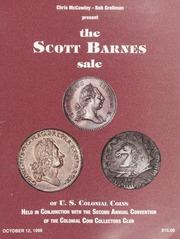 Scott Barnes Sale of U.S. Colonial Coins