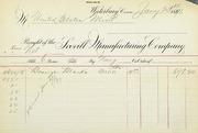 Scovill bronze blanks invoice (1-23-1891)