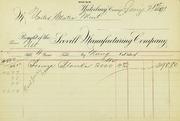Scovill cent blank invoice (1-21-1891)