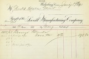 Scovill invoice for cent blanks (1-17-1891)