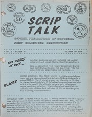 Scrip Talk: December 1974 Issue